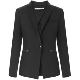 veronica beard scuba blazer jacket black