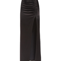 Alice & Olivia Diana Maxi Ruched Skirt Black