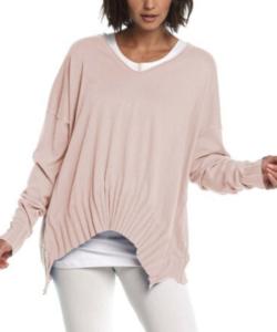 planet Rib V Neck Sweater – Sheer Pink