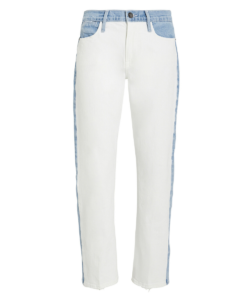 Frame Le High Straight Colorblocked Jeans - Arizona