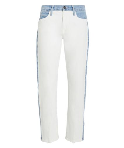 Frame Le High Straight Colorblocked Jeans - Arizona