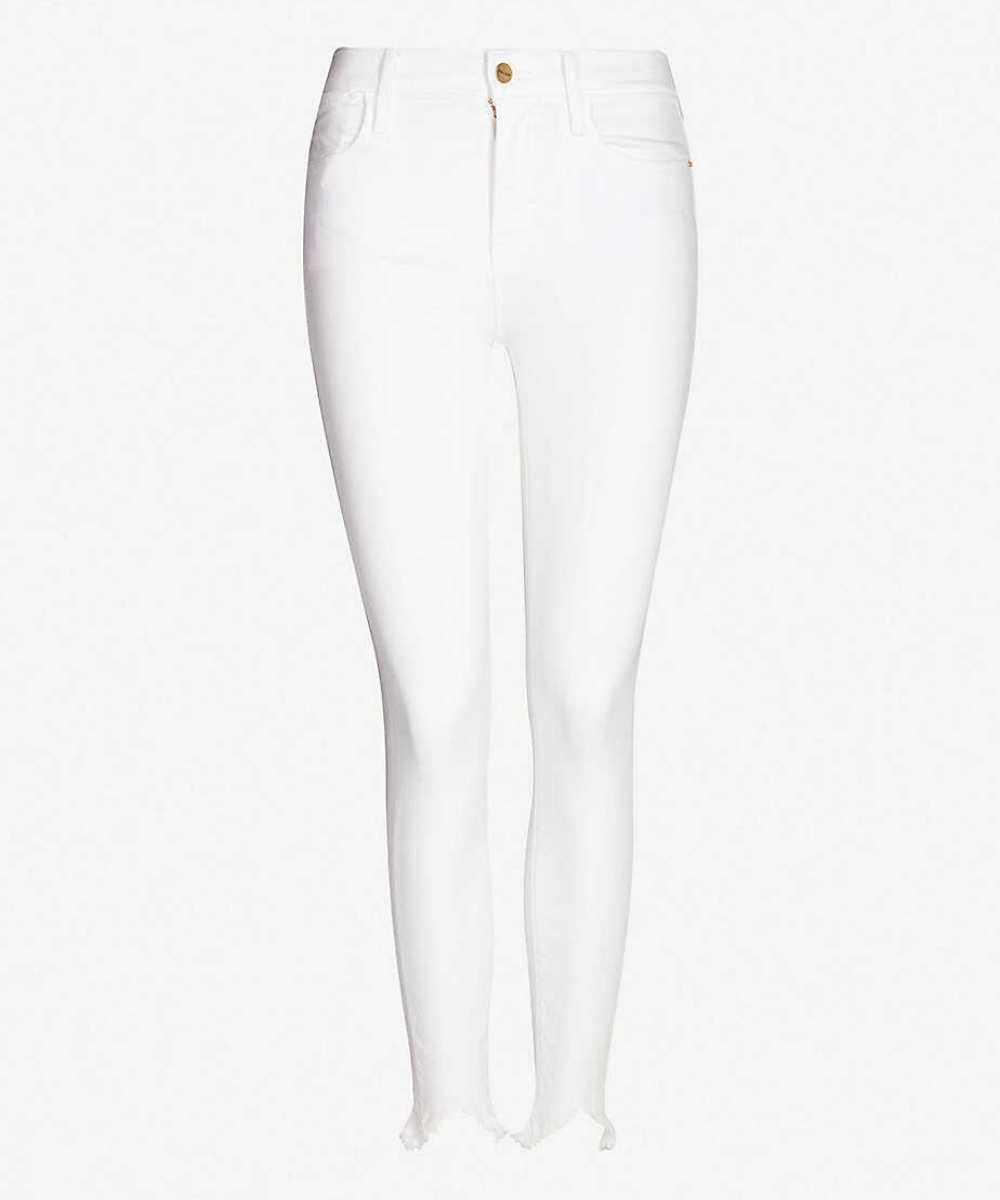 Frame Le High Skinny Double Triangle Jean - Blanc
