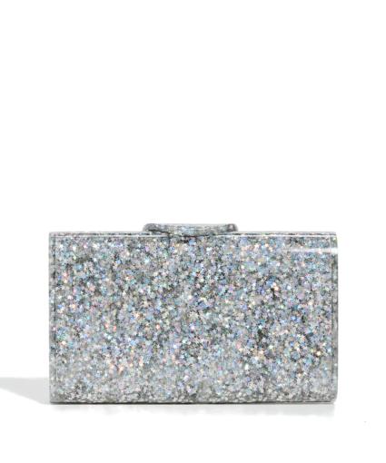 edie parker silver star confetti mini lara clutch