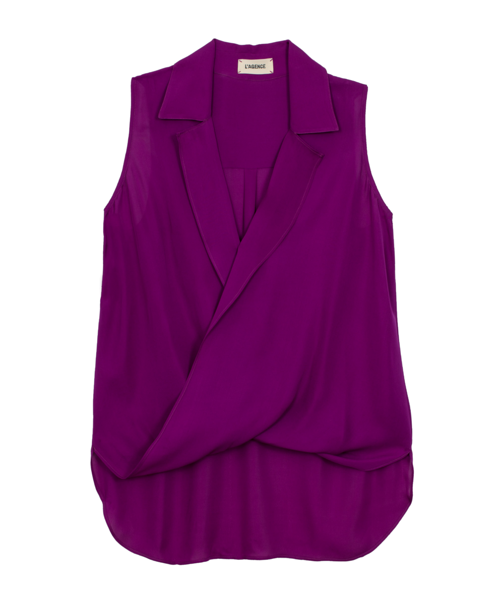 6f2feae6a91501 L'Agence Bright Plum Freja Blouse