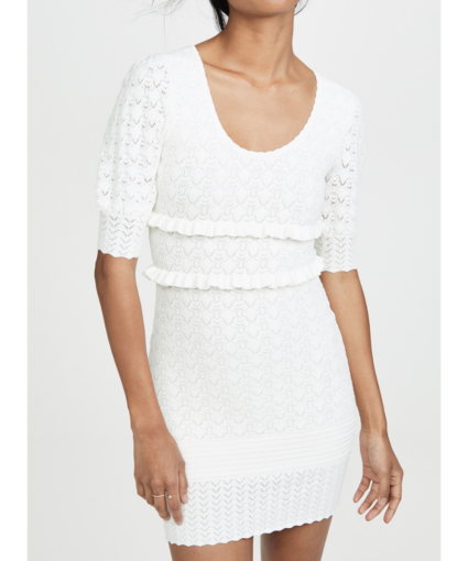 Ronny Kobo Ivory Knit Sweater Colby Dress