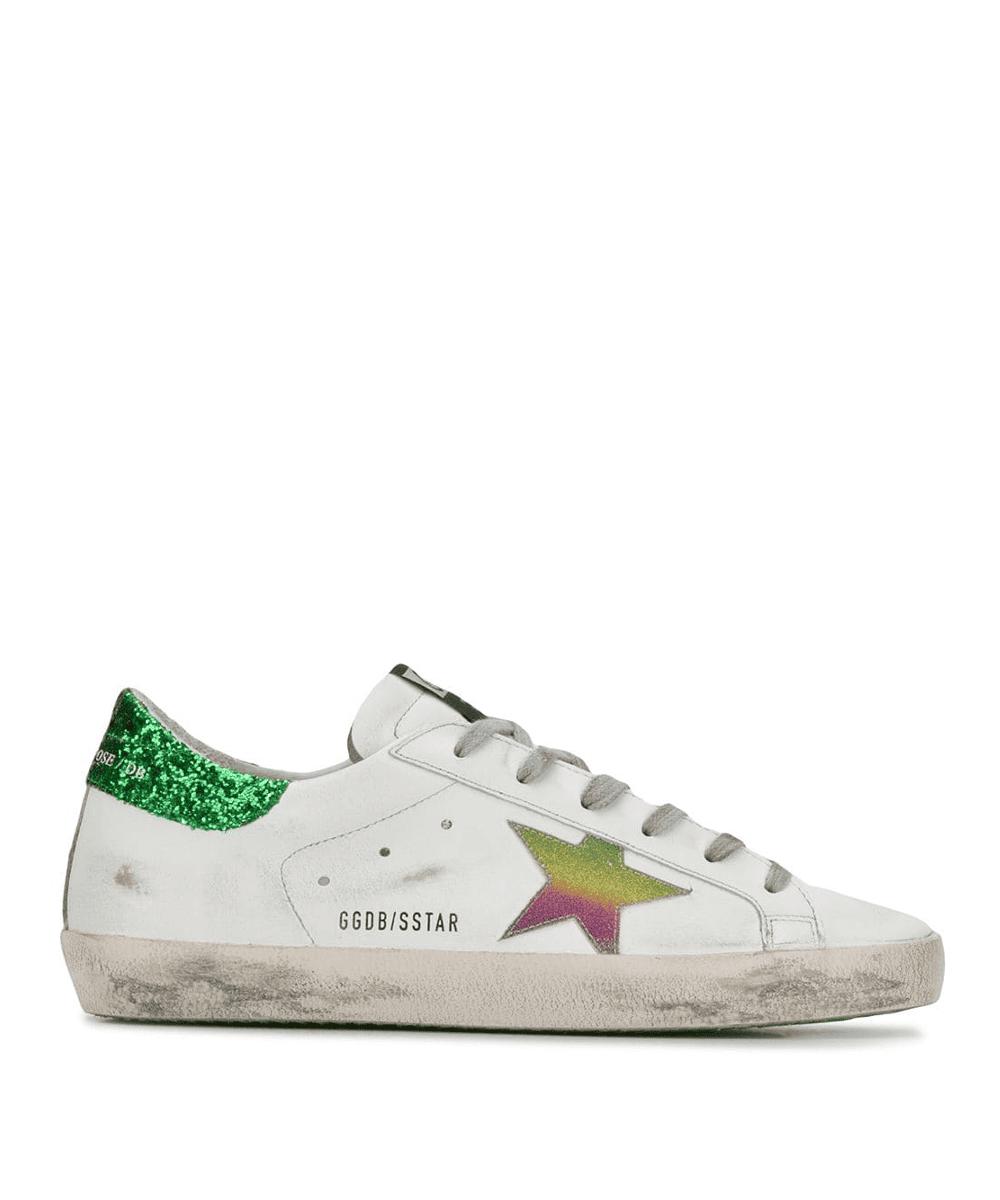taglia 40 42f24 ebafd Superstar Sneakers – White / Green / Rainbow