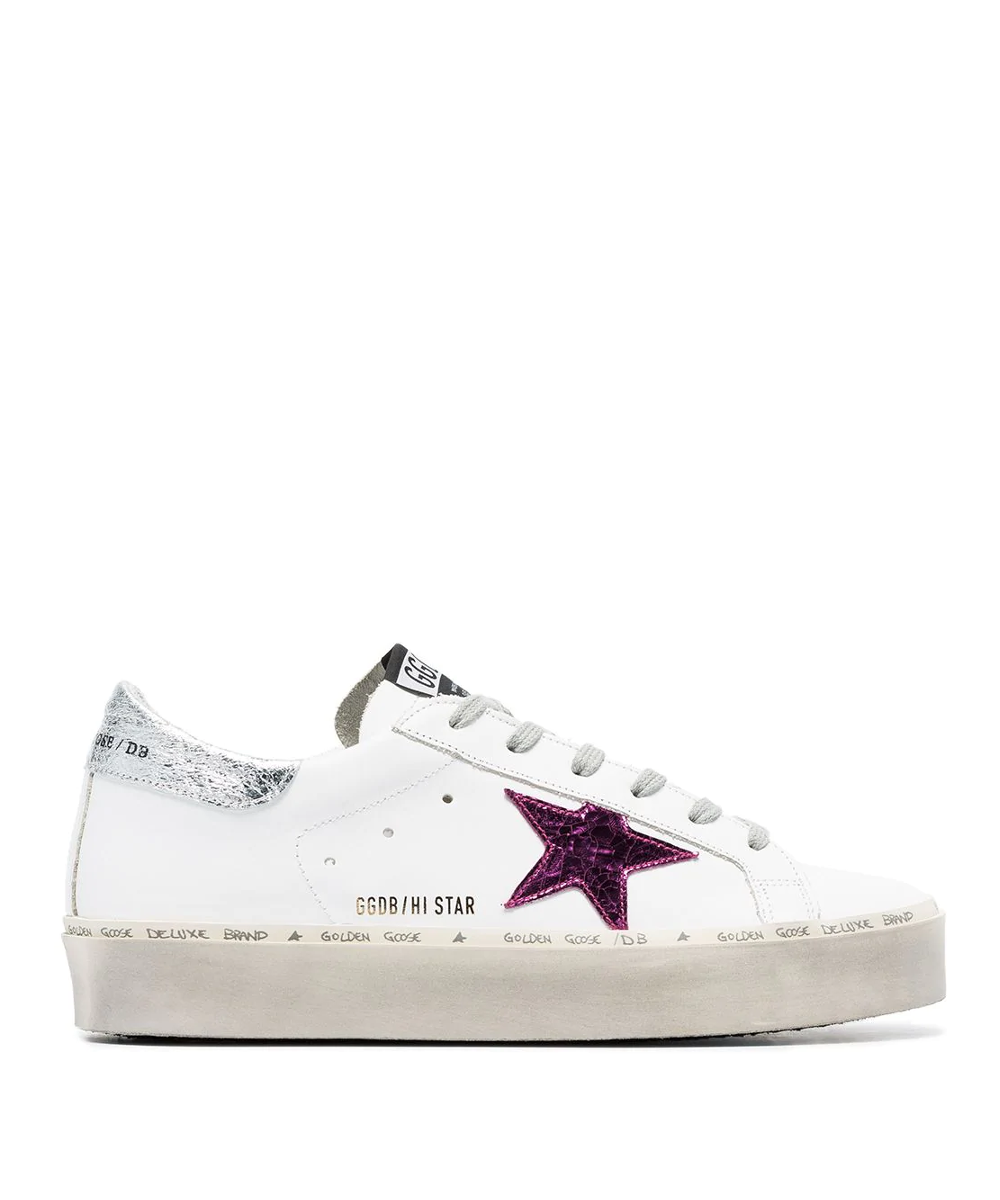 1f12cdd21da5 Hi Star Sneaker – White   Silver   Pink. Designer  Golden Goose