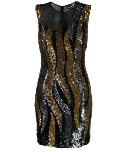 just cavalli wavy sequin dress