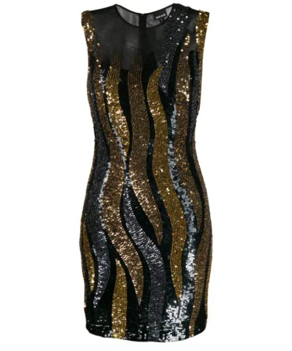 just cavalli wavy sequin dress