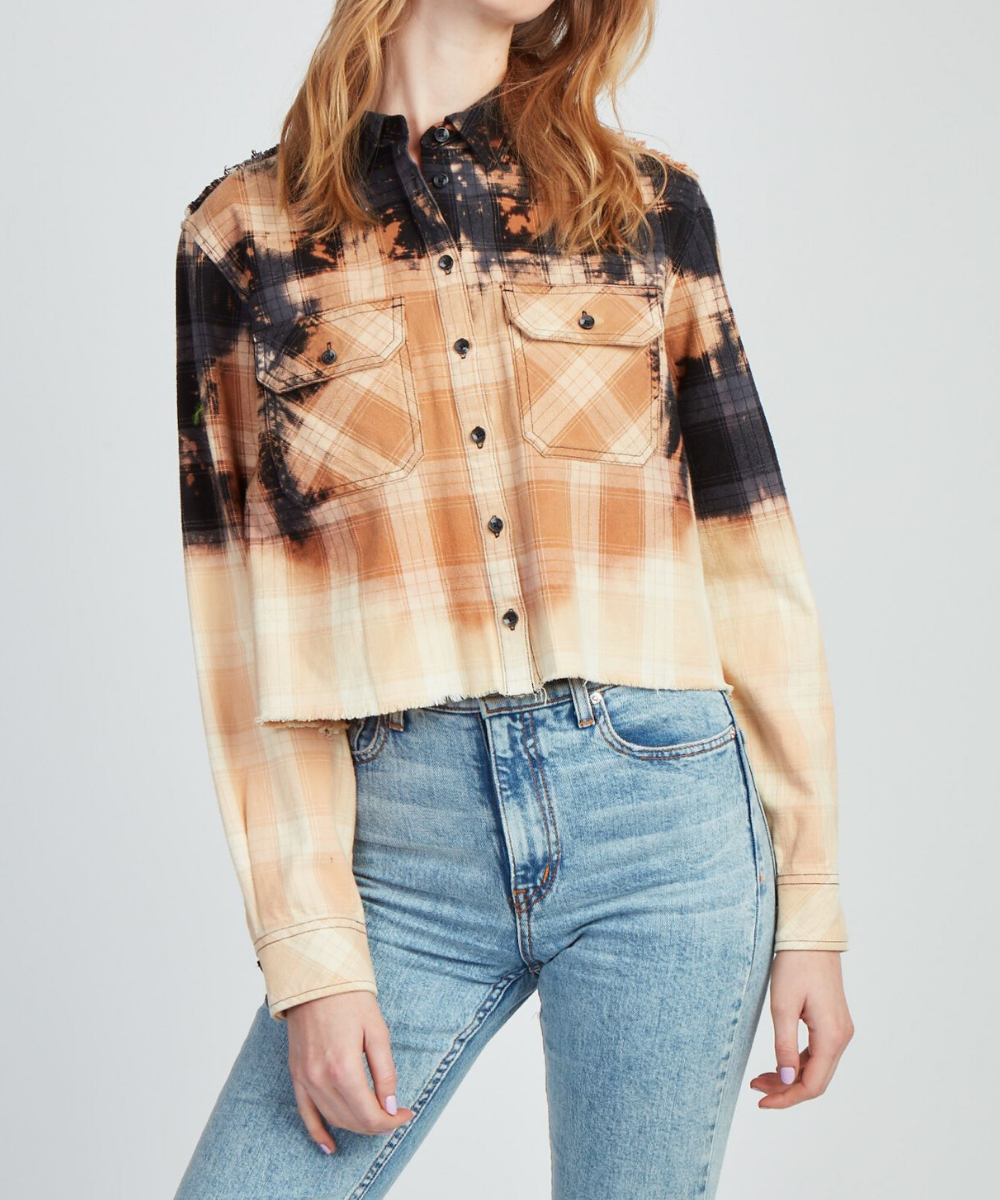 the une femme libre flannel jocelyn bleached