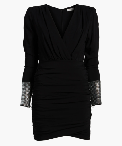 Ronny Kobo Black Crystal Penny Dress