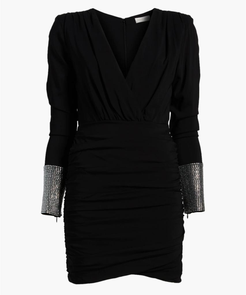 Ronny Kobo Black Crystal Penny Dress