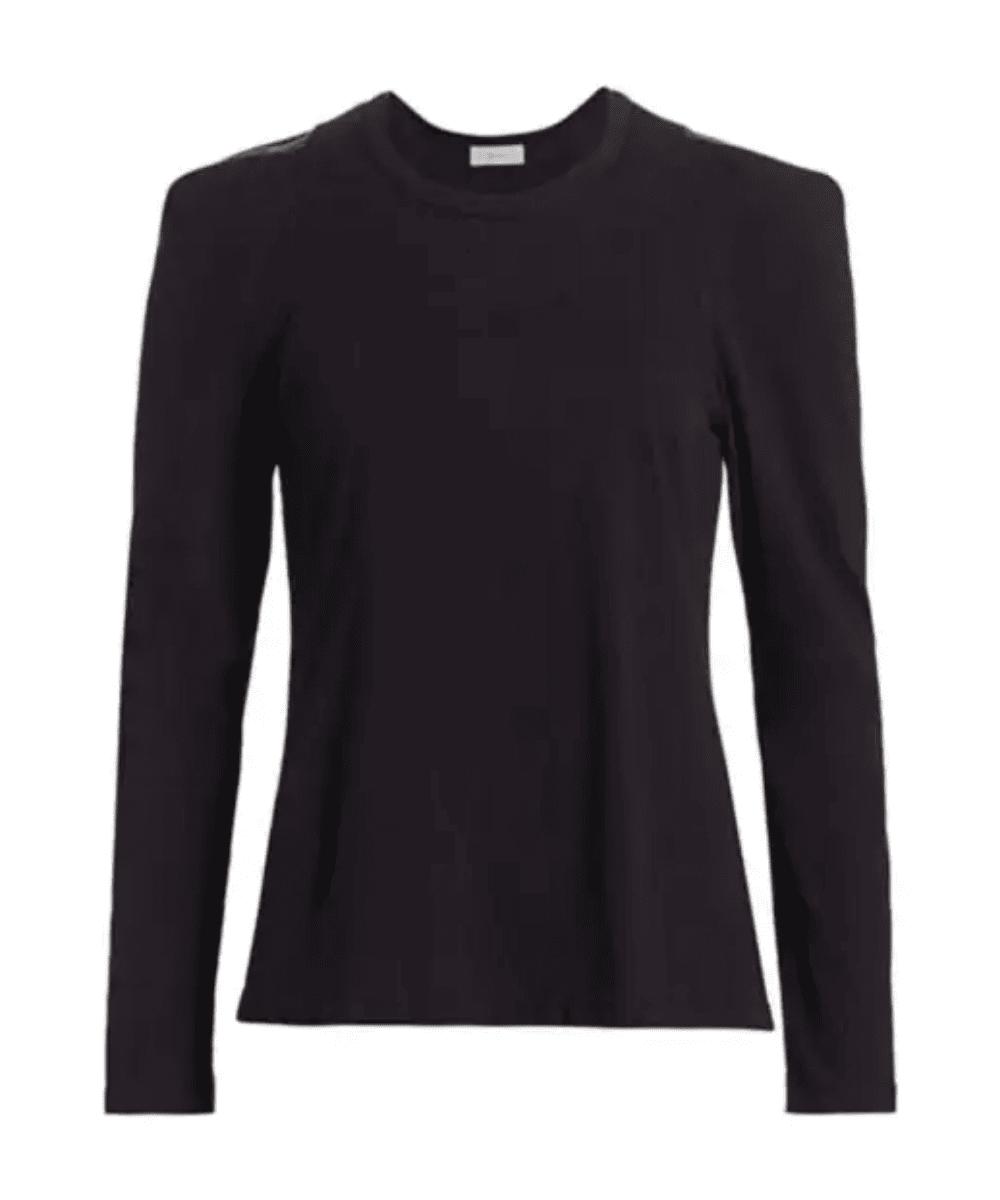 ALC Black Long Sleeve Puff Tee T Shirt Charlotte