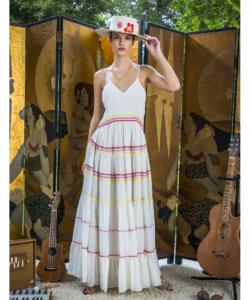 Carolina K White Marieta Maxi Dress