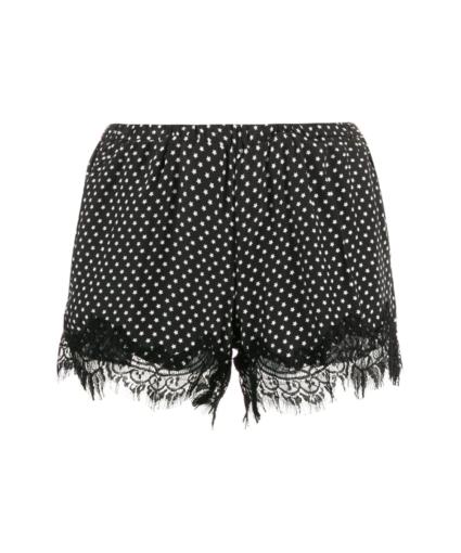 Gold Hawk Star Print Lace Shorts