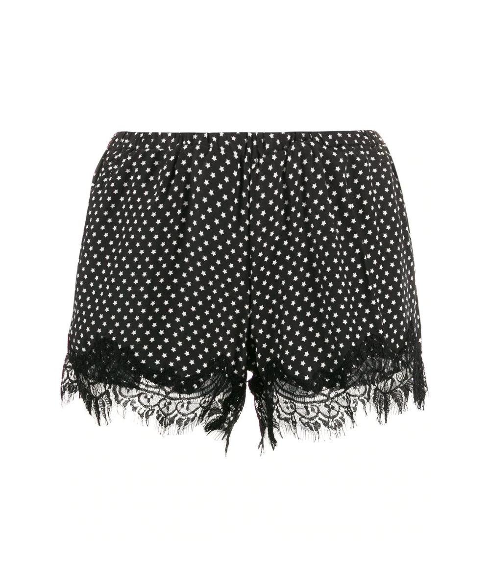 Gold Hawk Star Print Lace Shorts