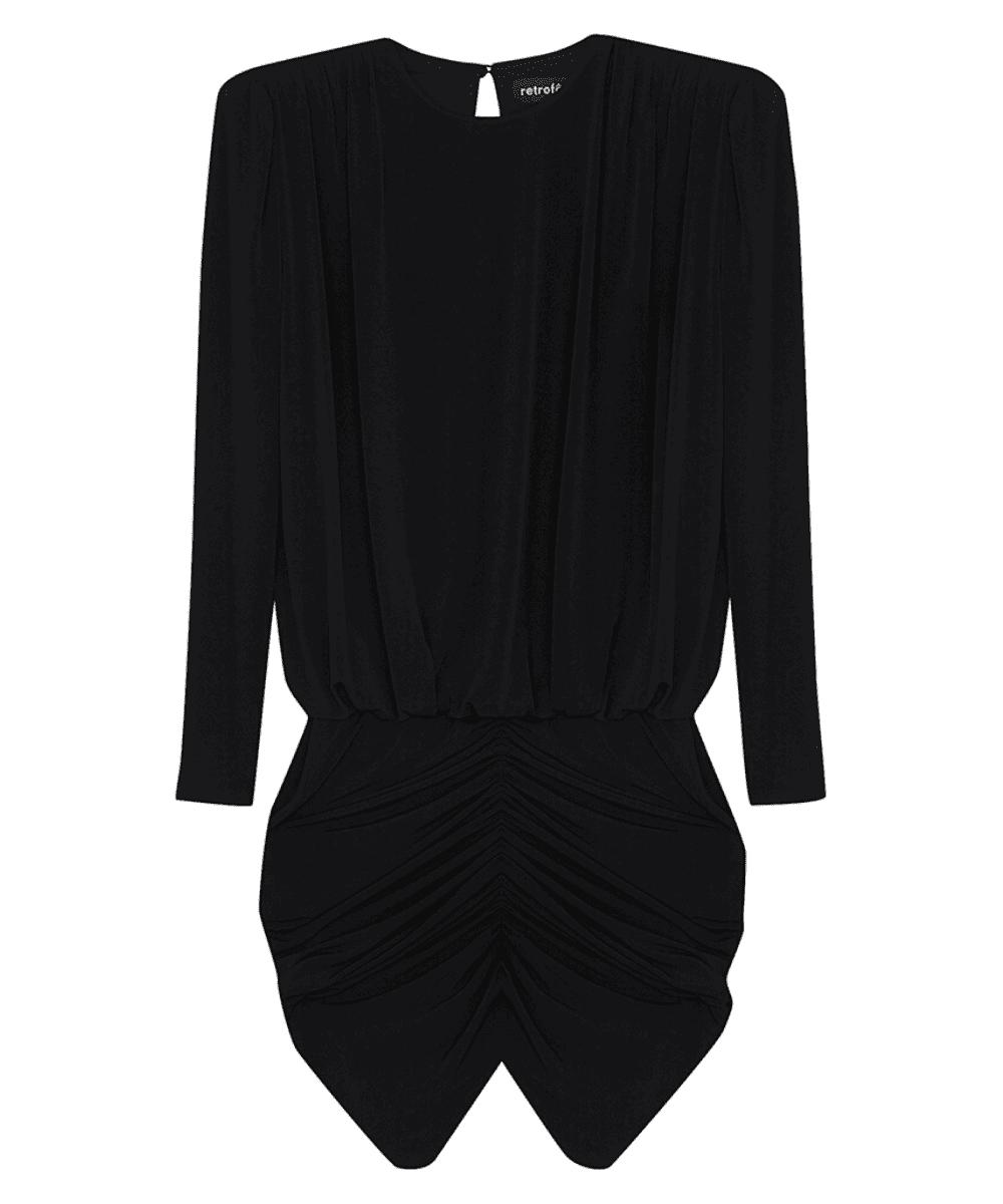 Flynn Dress Black Retrofete