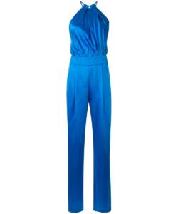 Michelle Mason Sky Blue Halter Jumpsuit