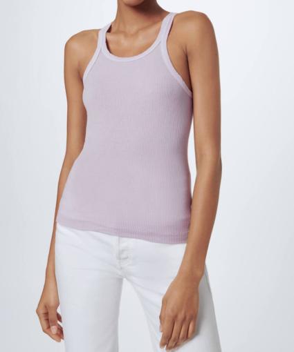 Model Ribbed Tank Top Lilac Lavender