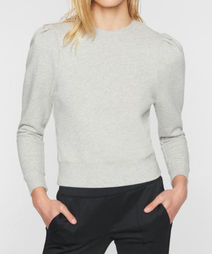 Pam & Gela Grey Puff Sleeve Sweatshirt Top