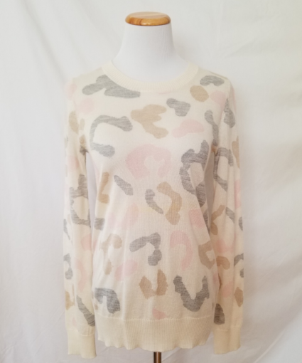 madeleine thompson baldwin sweater ivory camo
