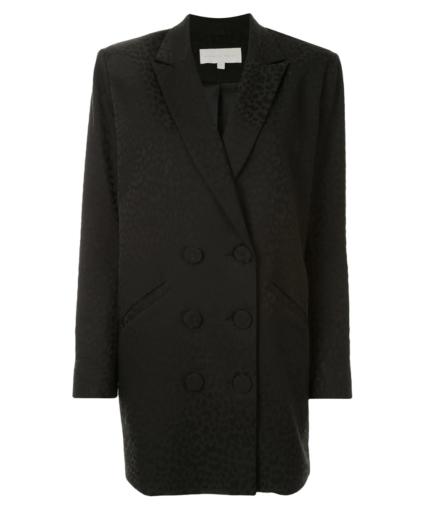michelle mason oversized leopard blazer dress