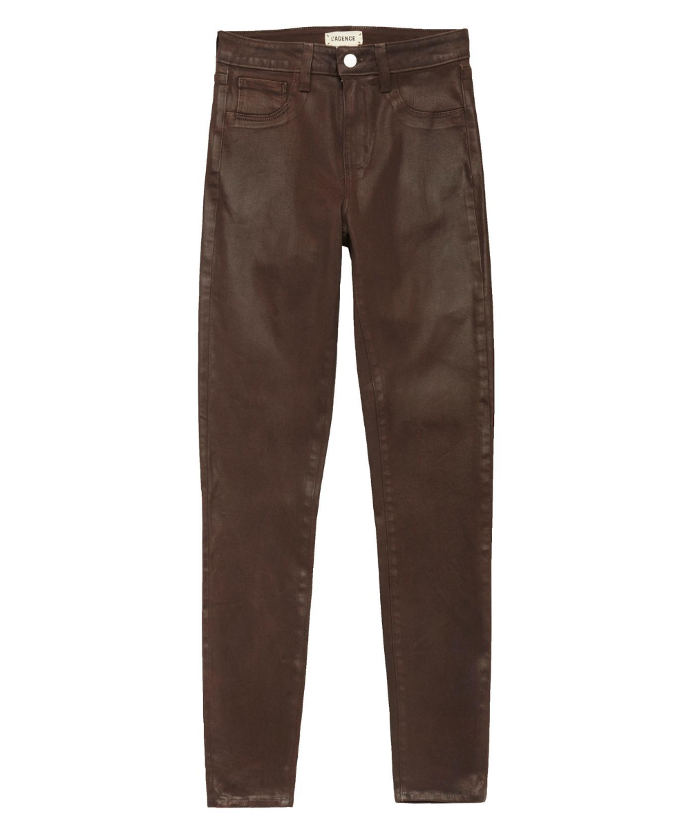 Marguerite Skinny Jean Cocoa Coated L'Agence
