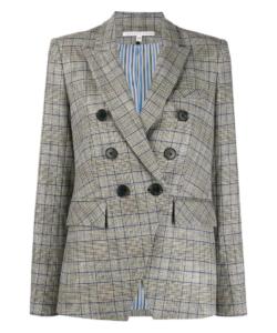 Miller Dickey Jacket Grey Plaid Veronica Beard