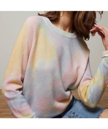 Autumn Cashmere Tie Dye Knit Sweater