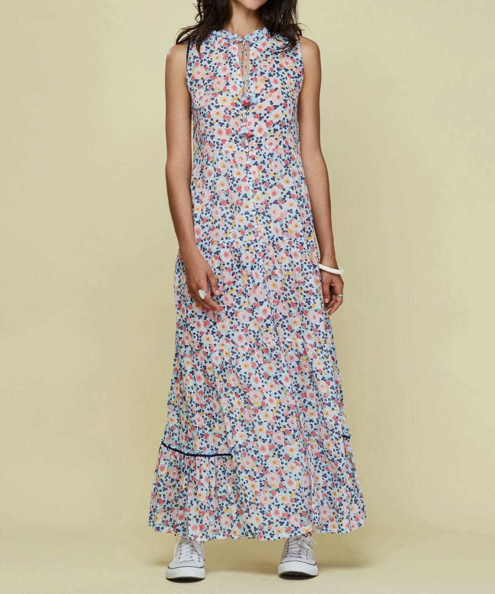 Clara Maxi Dress Blue Fruitty Poupette St. Barth