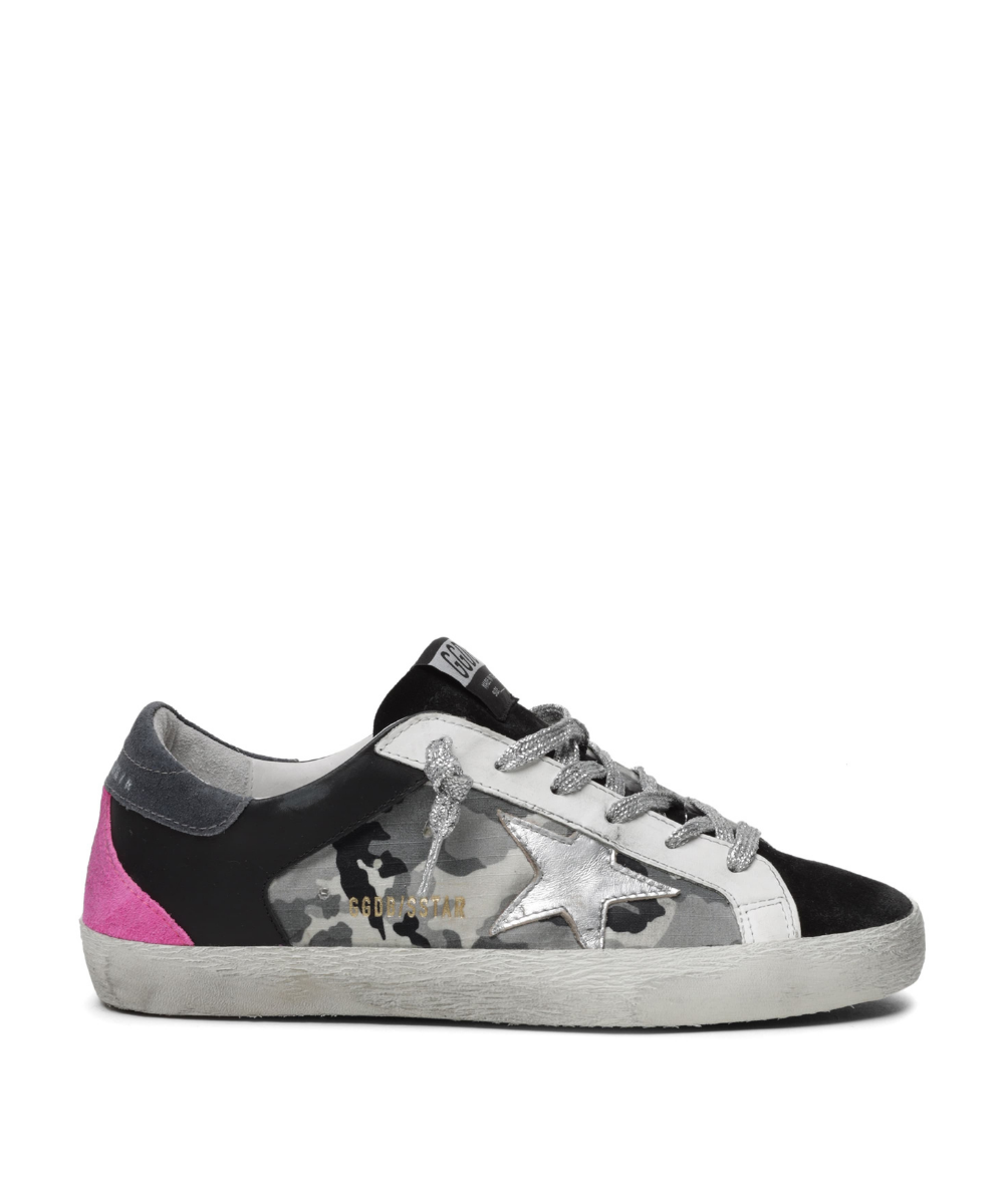 Golden Goose Superstar Camo Black Pink Silver