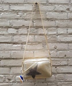 Logo Star Camera Bag Gold Iridescent Golden Goose