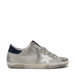 Superstar Snaker Grey Suede Denim Back Python Toe Golden Goose