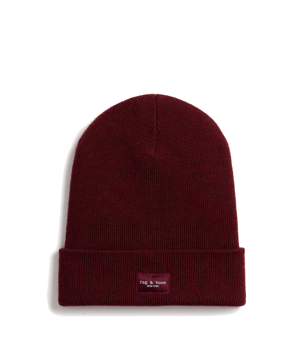 Addison Beanie Wine Rag & Bone