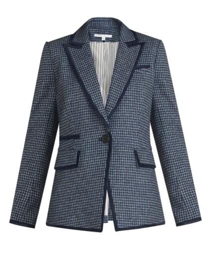 Halia Dickey Jacket Prussian Blue Veronica Beard