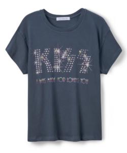Kiss Loving You Embellished Tour Tee Vintage Black Daydreamer LA