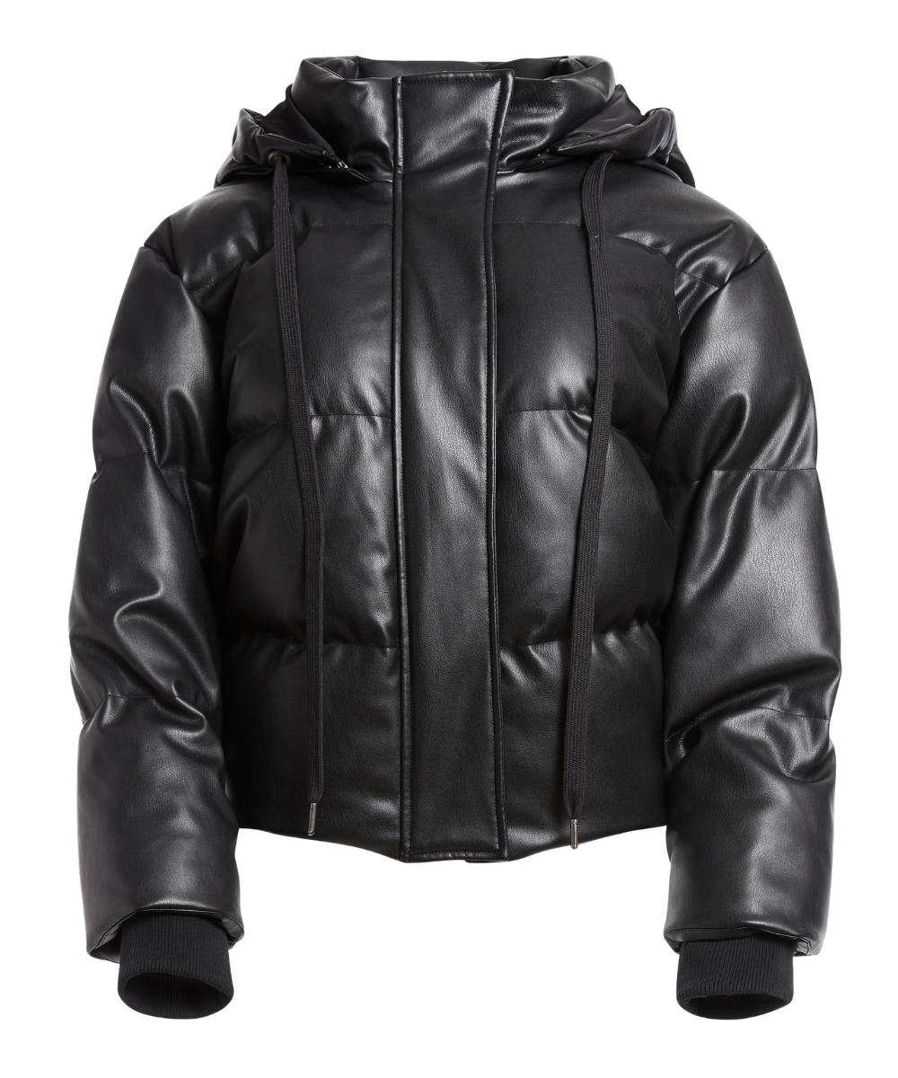 Robinson Vegan Leather Puffer Black Alice & Olivia
