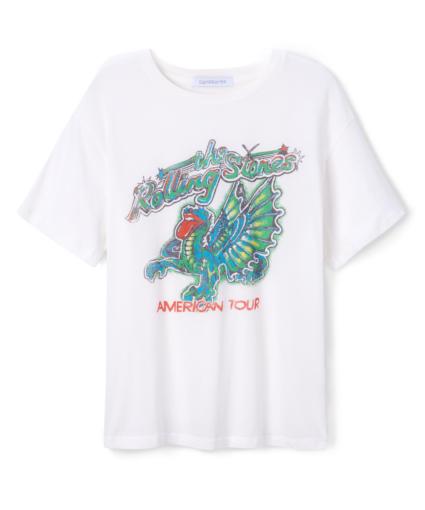 Rolling Stones Concert Dragon Boyfriend Tee White Daydreamer