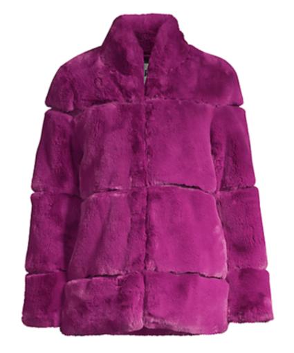 Sarah Coat Purple Clover Apparis