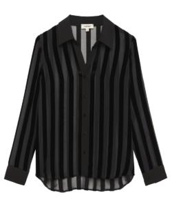 hailie blouse black stripes l'agence