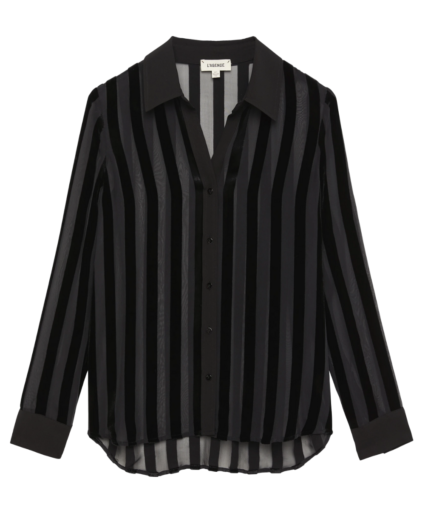 hailie blouse black stripes l'agence