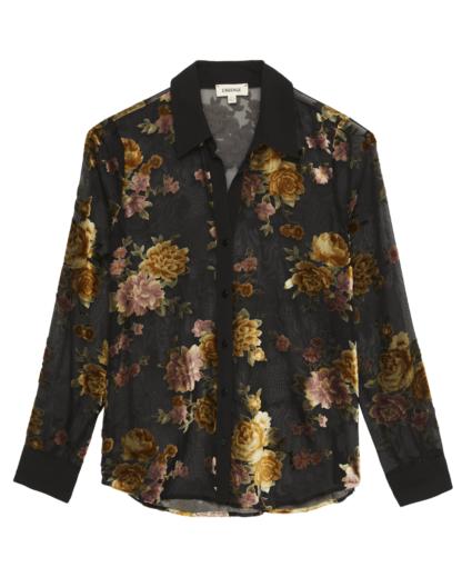 hailie blouse floral burnout l'agence