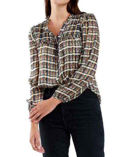 nellie blouse plaid marie oliver