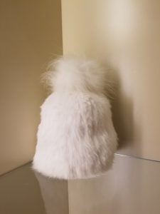 Pom Pom Hat White Yves Salomon