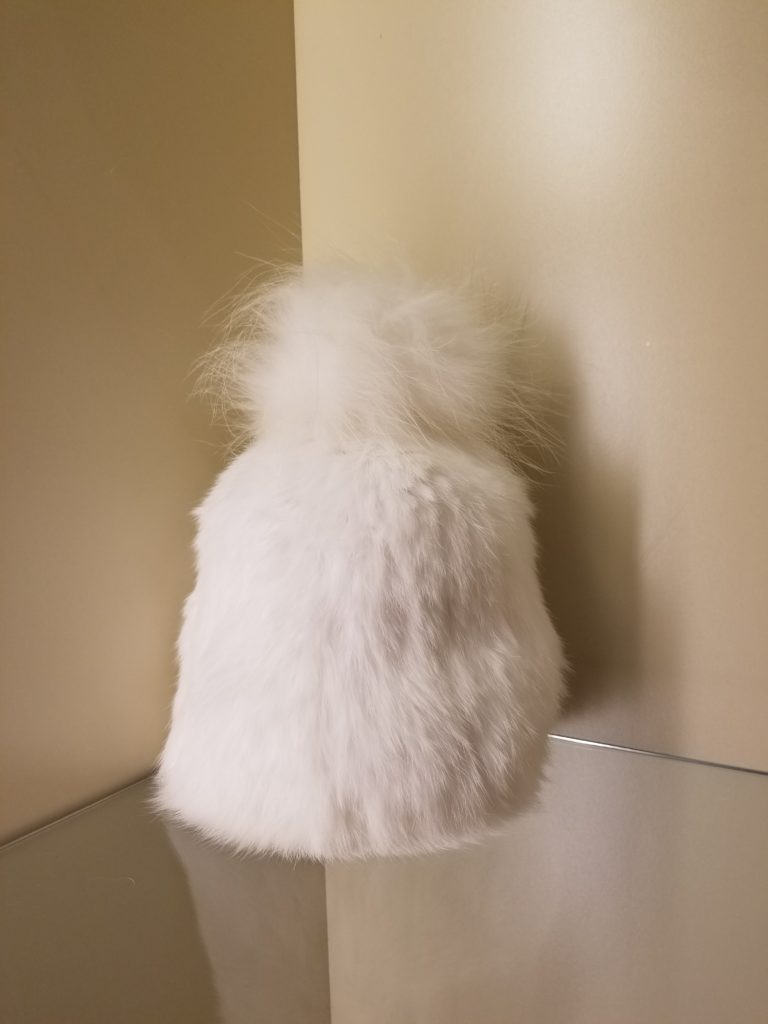 Pom Pom Hat White Yves Salomon