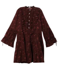 Desert Dress Burgundy Warm