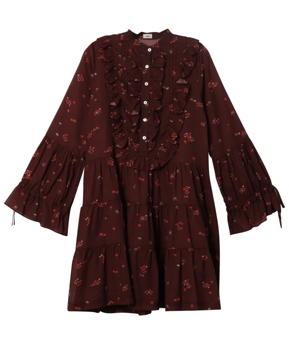 Desert Dress Burgundy Warm