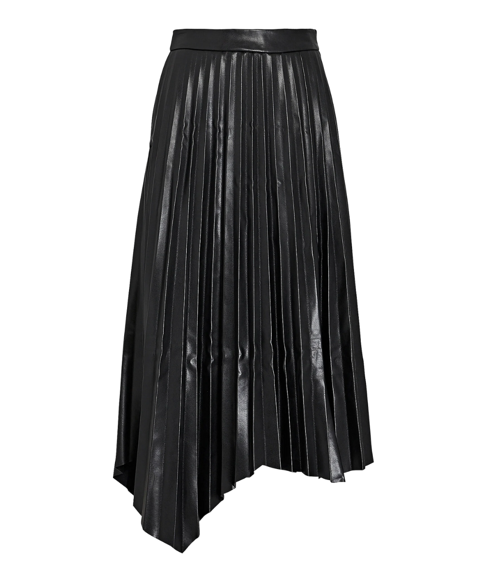 Jayla Vegan Leather Skirt Black Jonathan Simkhai