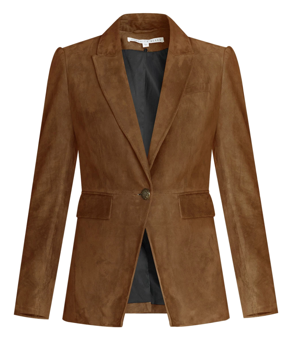 Long and Lean Suede Dickey Jacket Acord Veronica Beard