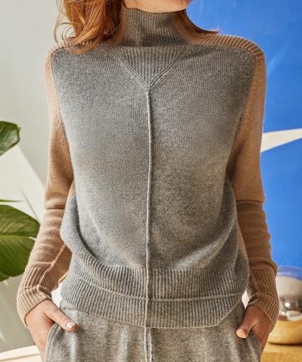 Mock Funnel Neck Sweater Autumn Cashmere
